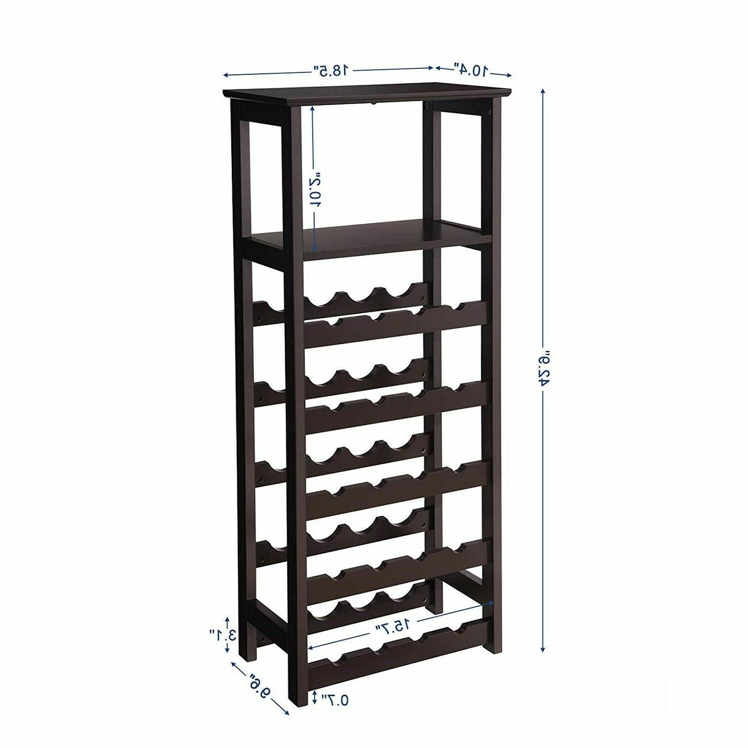 Floor Standing Wine Rack Modern Cabinet Holder Kitchen