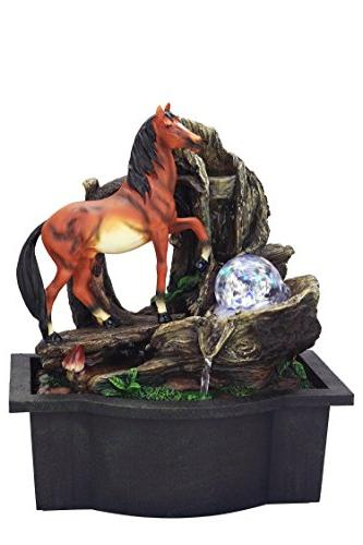 ft h horse table fountain