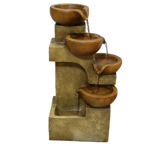 Garden Fountain Pots Waterfall Patio Cascading