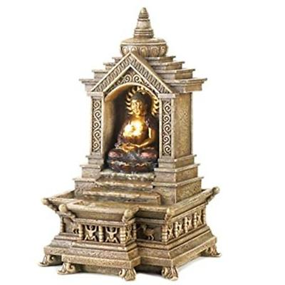 golden buddha temple faux stone tabletop water