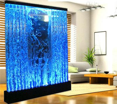 New HUGE 6.5' x 6.5' LED FULL Color Bubble Wall Water Founta