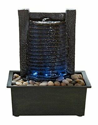 indoor water fountain with led lights lighted