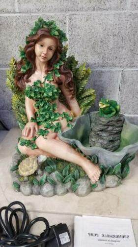 Lady In FrogTabletop Fountain,