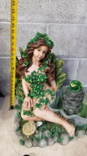 Lady Covered In Ivy FrogTabletop Fountain, New
