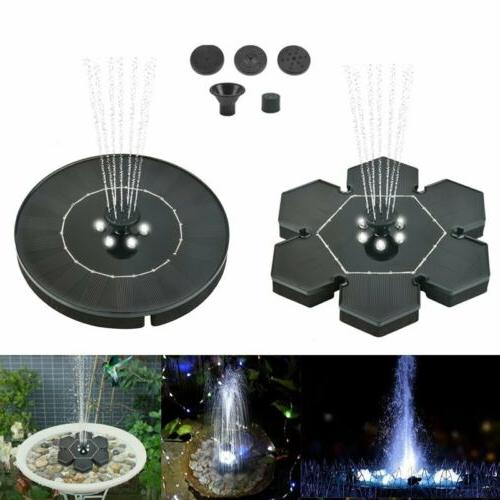 led lights solar powered fountain water pump