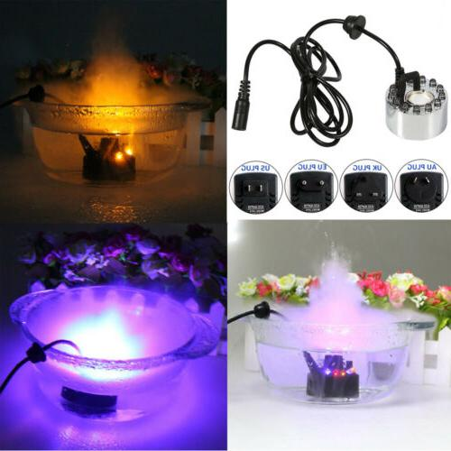Mist Water Fountain Pond Atomizer Air Humidifier 12 LED