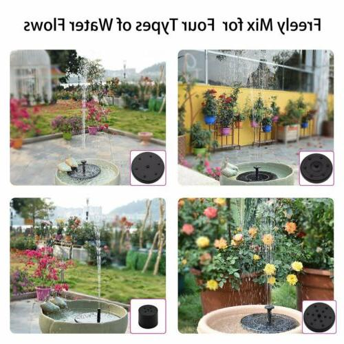 LED Bird Pump Garden Outdoor