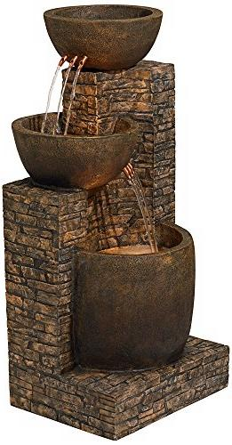 Mason Faux Stone Fountain