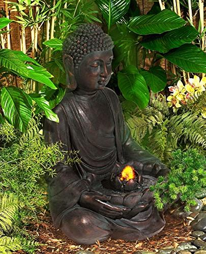 Meditating Aged LED Indoor/Outdoor Fountain