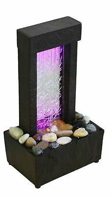 Nature's Mark Cracked Color Changing LED Relaxation Water