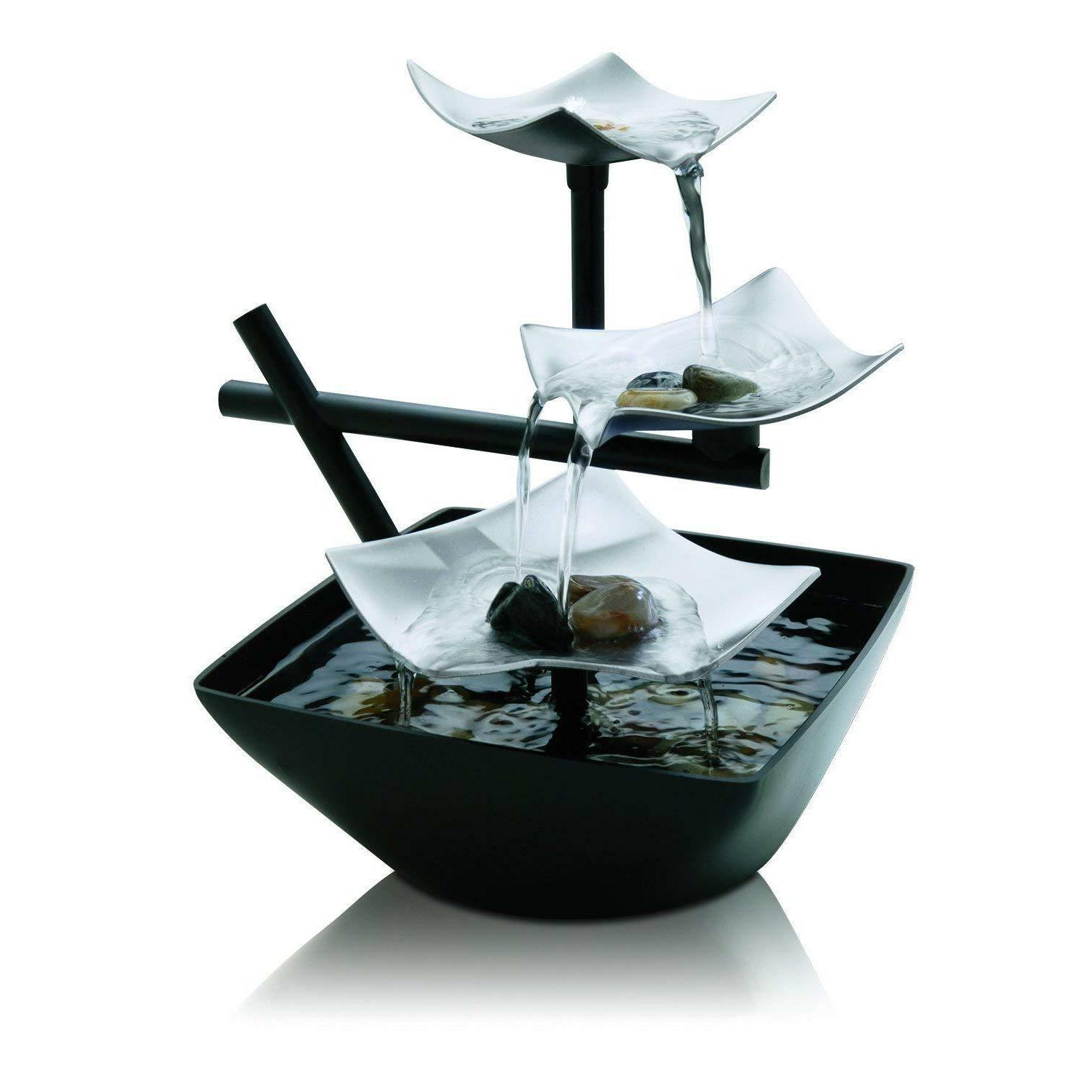 Waterfall Indoor Water Display Decorative Zen Relaxation New