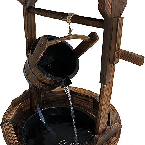 Sunnydaze Old-Fashioned Well Fountain with 48-Inch