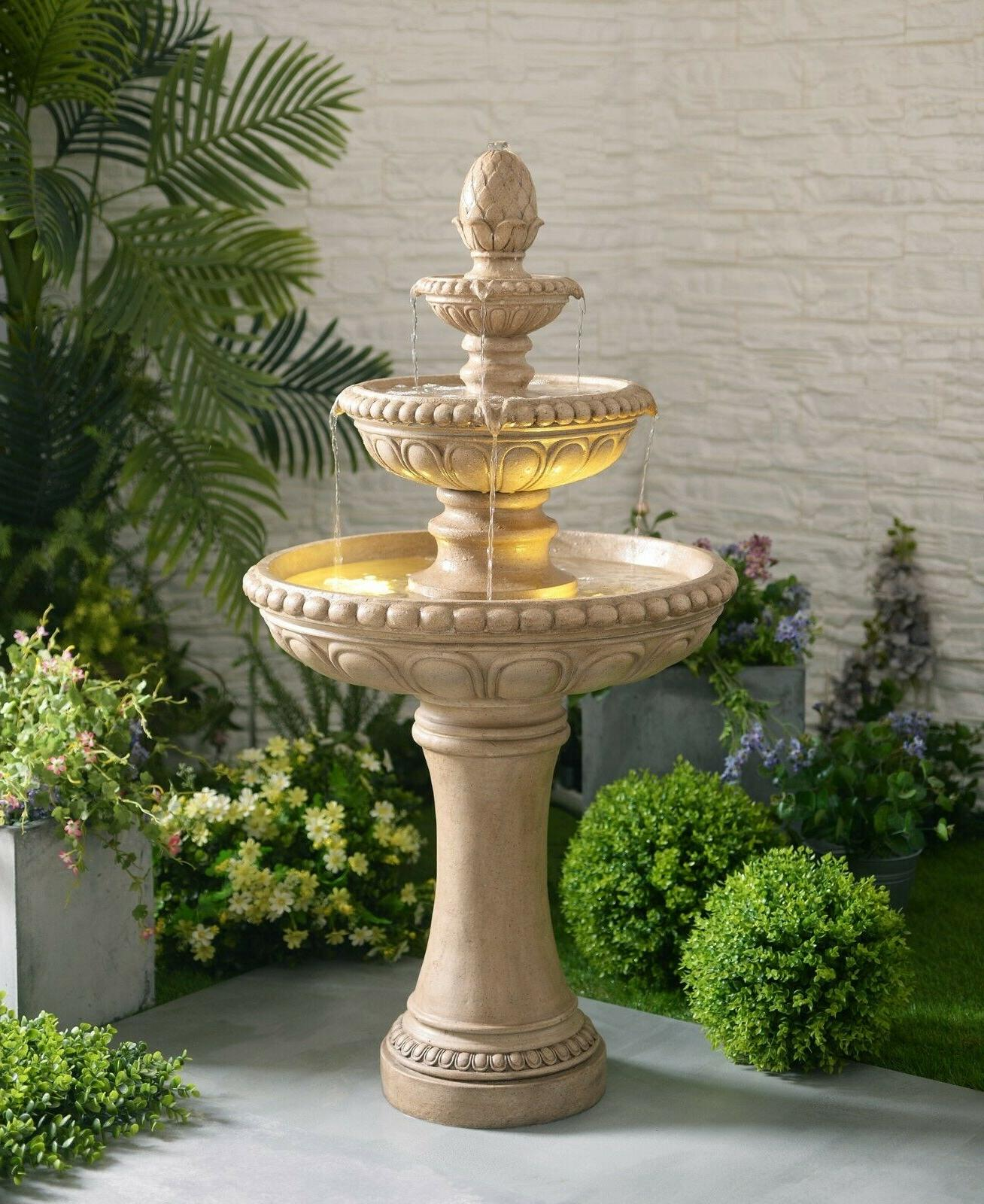 outdoor floor water fountain 48 high three