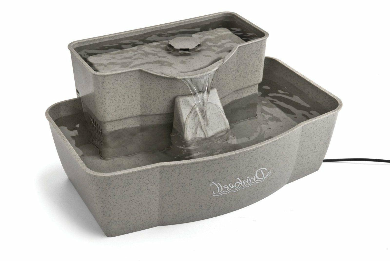 Pet Drinking Well Cat/Dog Water Fountain Pet Bowl Grey Supply