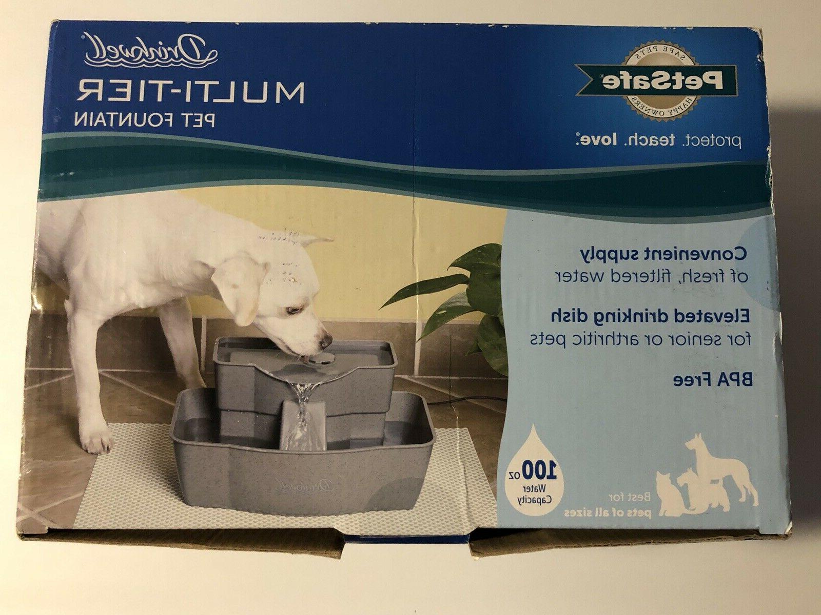 pet drinking well cat dog water fountain