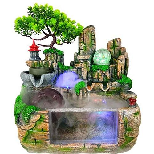 polyresin water flow fountain home