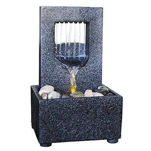 raining spout led relaxation water fountain river