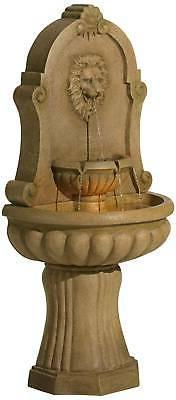 "Roman Wall Fountain 58"" Lion's Yard Garden"