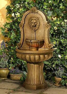 "Roman Outdoor Fountain 58"" Lion's Garden"