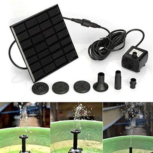 REFURBISHHOUSE Pump For Birdbath Powered Pump Panel Kit Garden With Floating Board