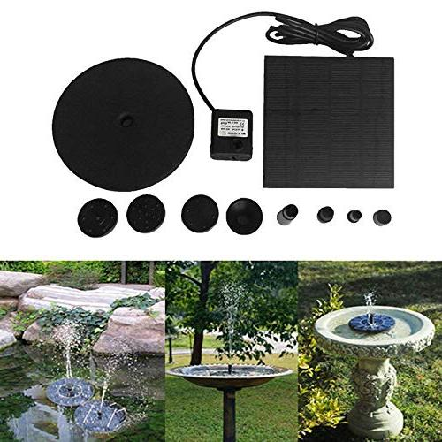 For Birdbath Solar Powered Water Pump Kit For With Floating Board