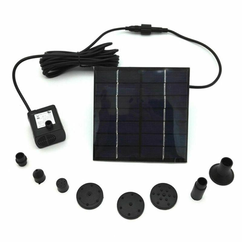 Solar Panel Powered Submersible Floating Bird Fountain
