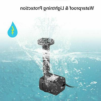 Solar Power Fountain Submersible Water Bird Pond
