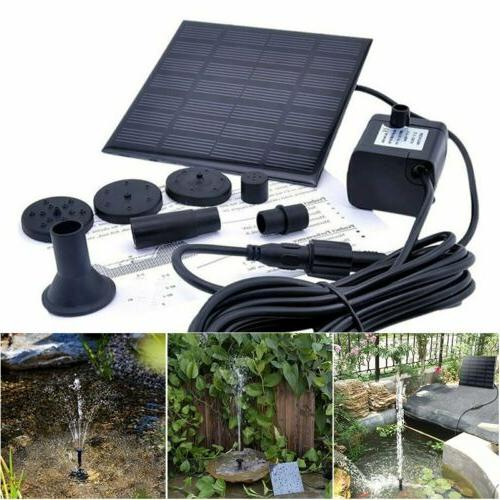 solar powered fountain water pump floating