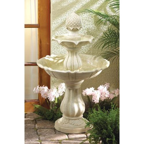 Stone-Look Tiered Fountain
