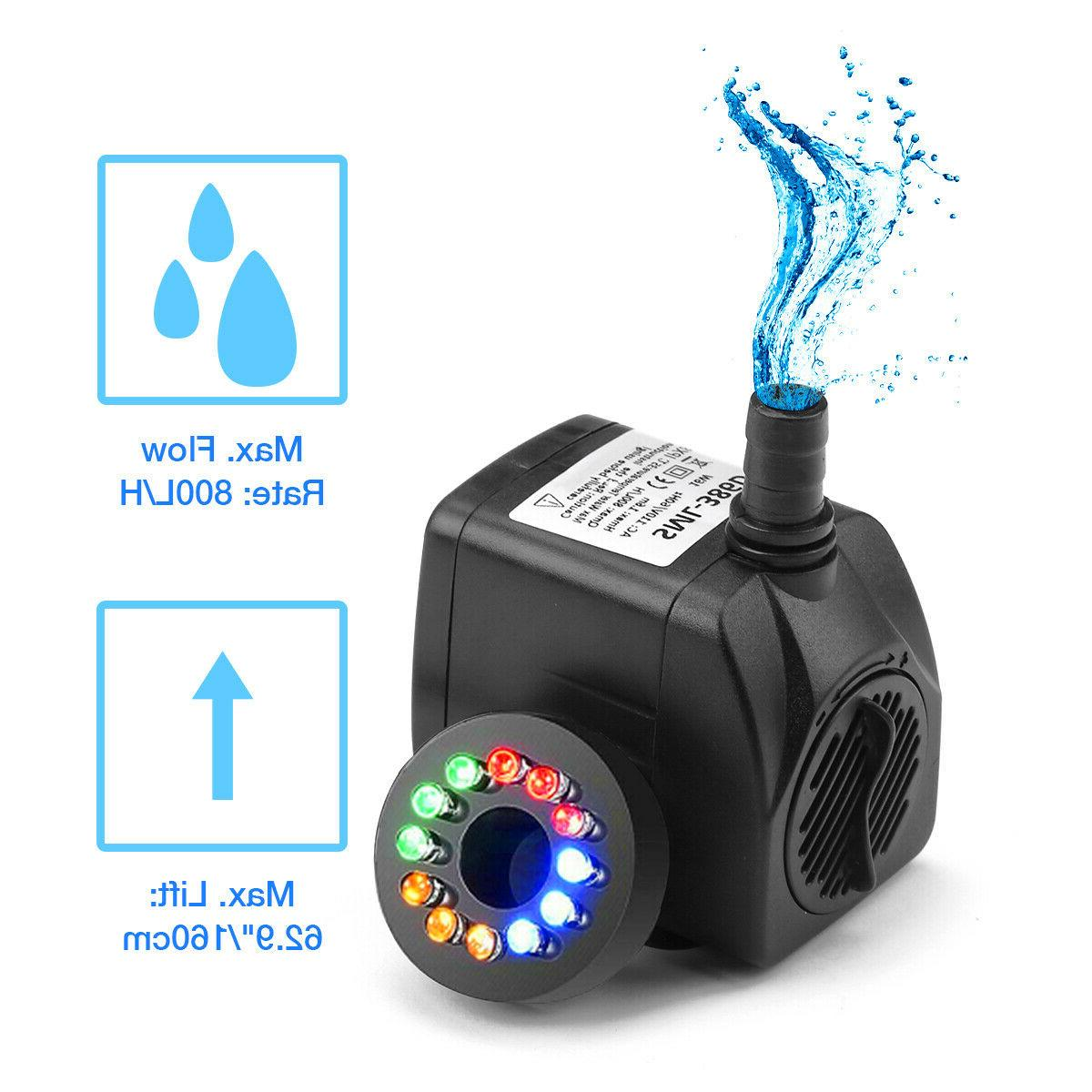 Submersible Water 12 LED Fountain Garden Tank