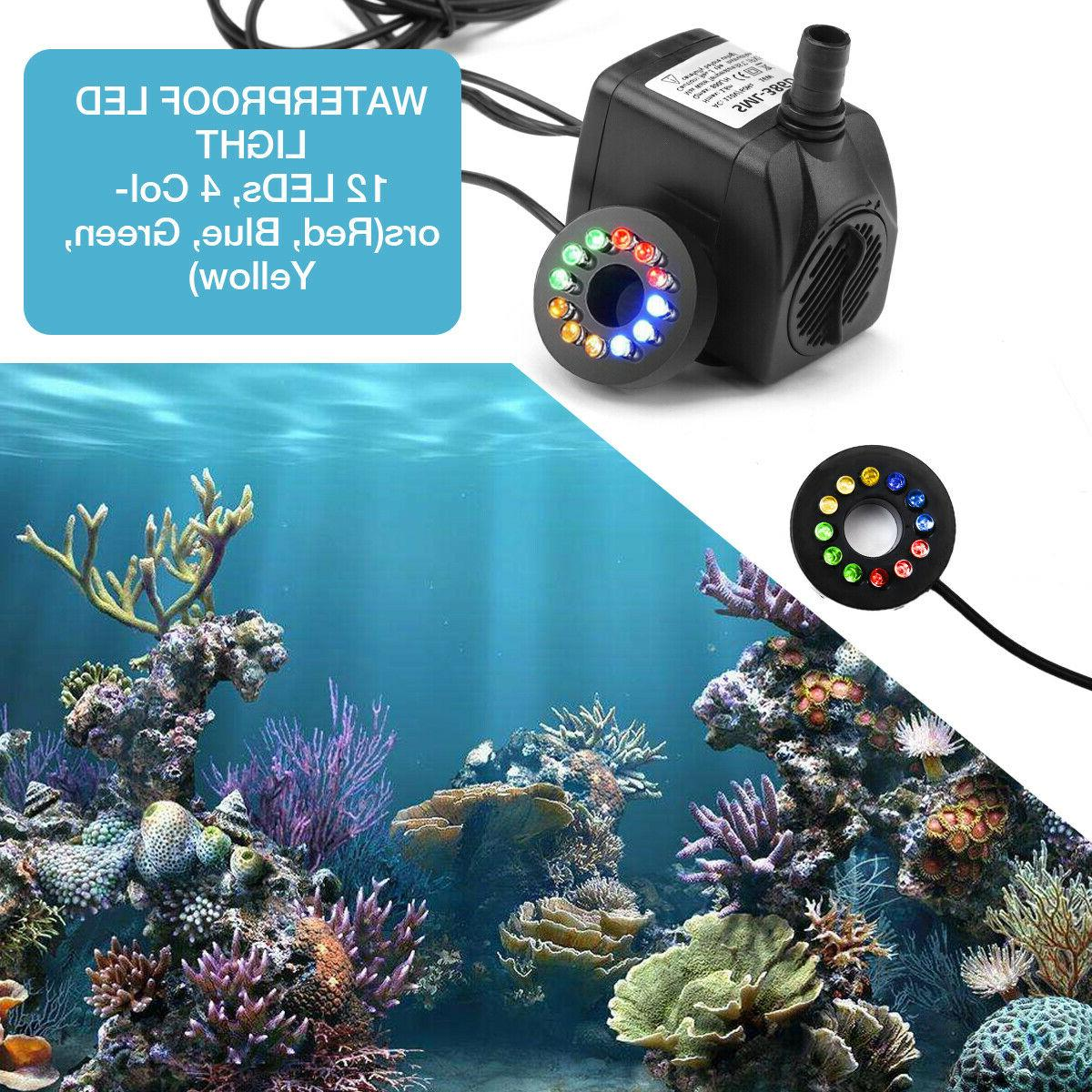 Submersible 12 LED Fountain Tank