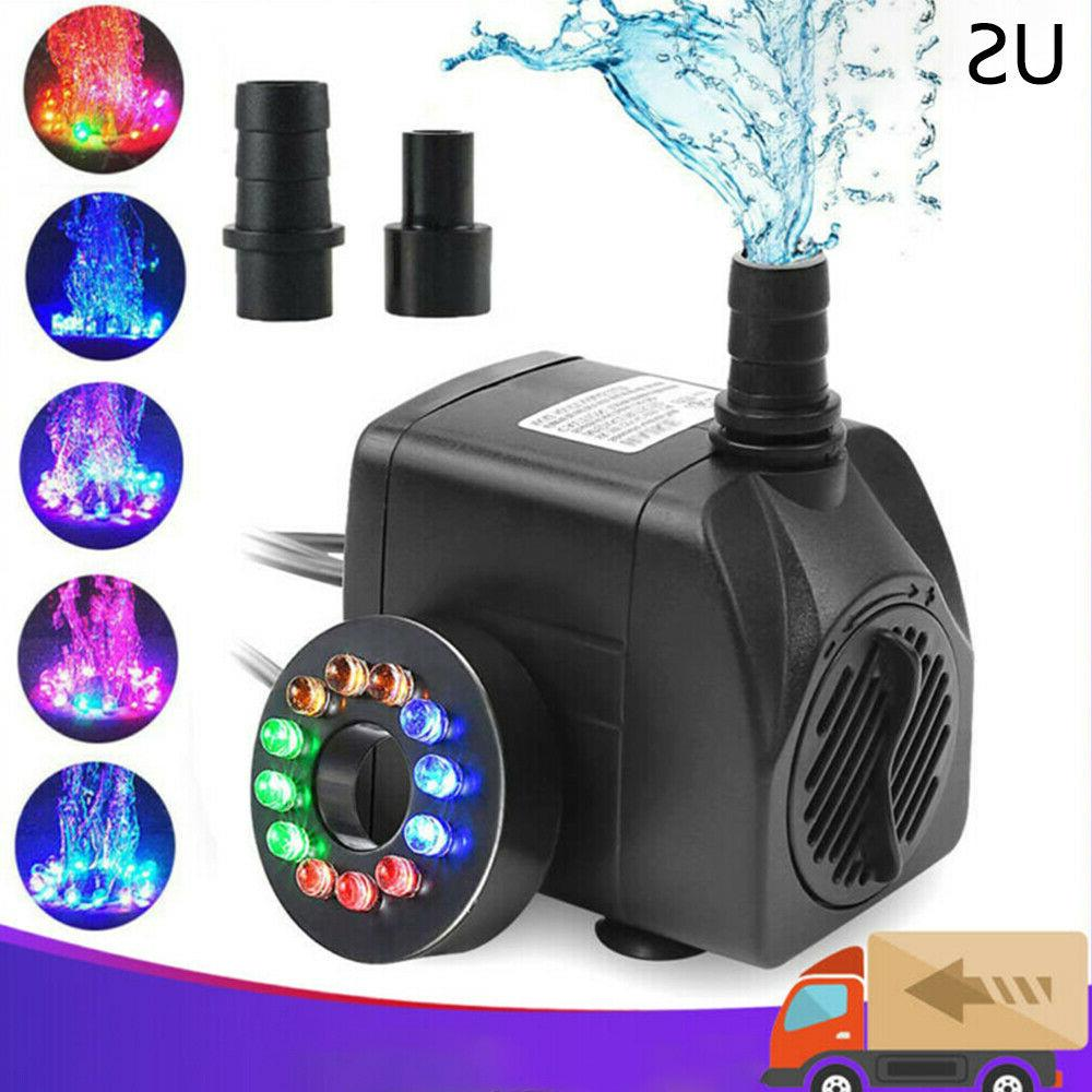 Submersible Water 12 LED Light Fountain Garden Tank