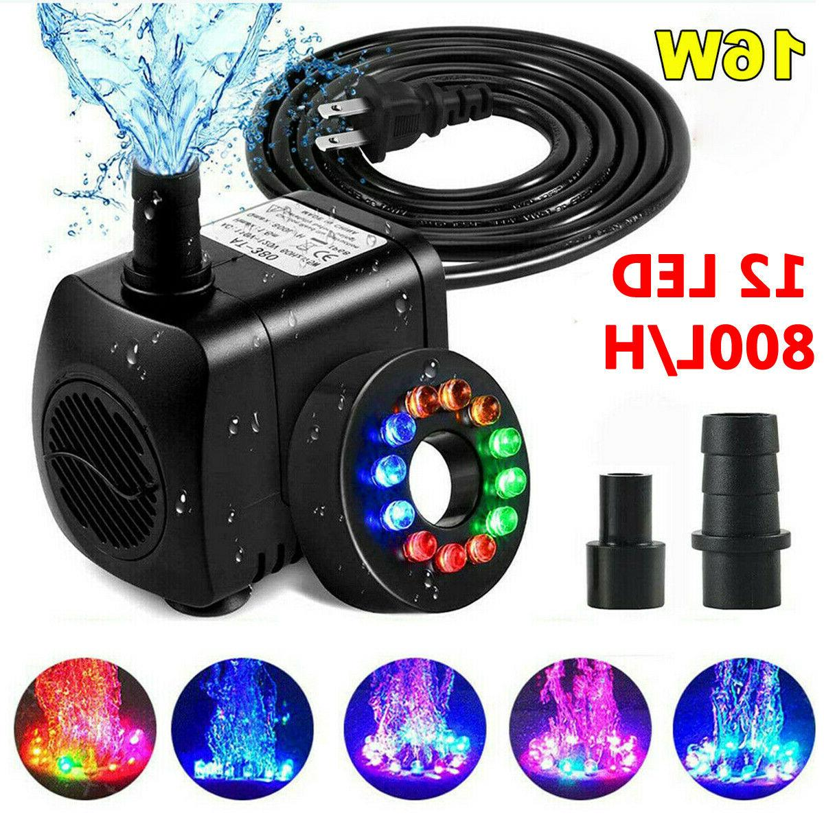 submersible water pump w 12 led light
