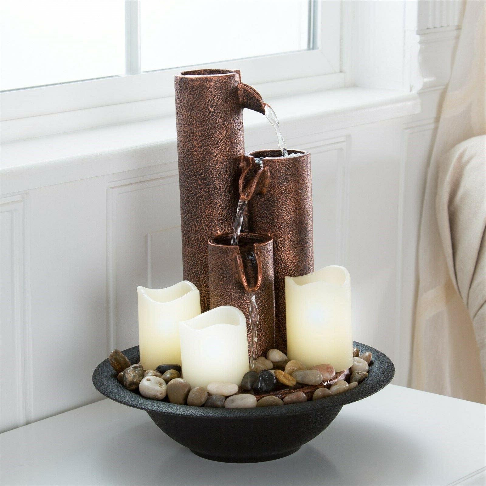 Pipe Column Water Fountain LED