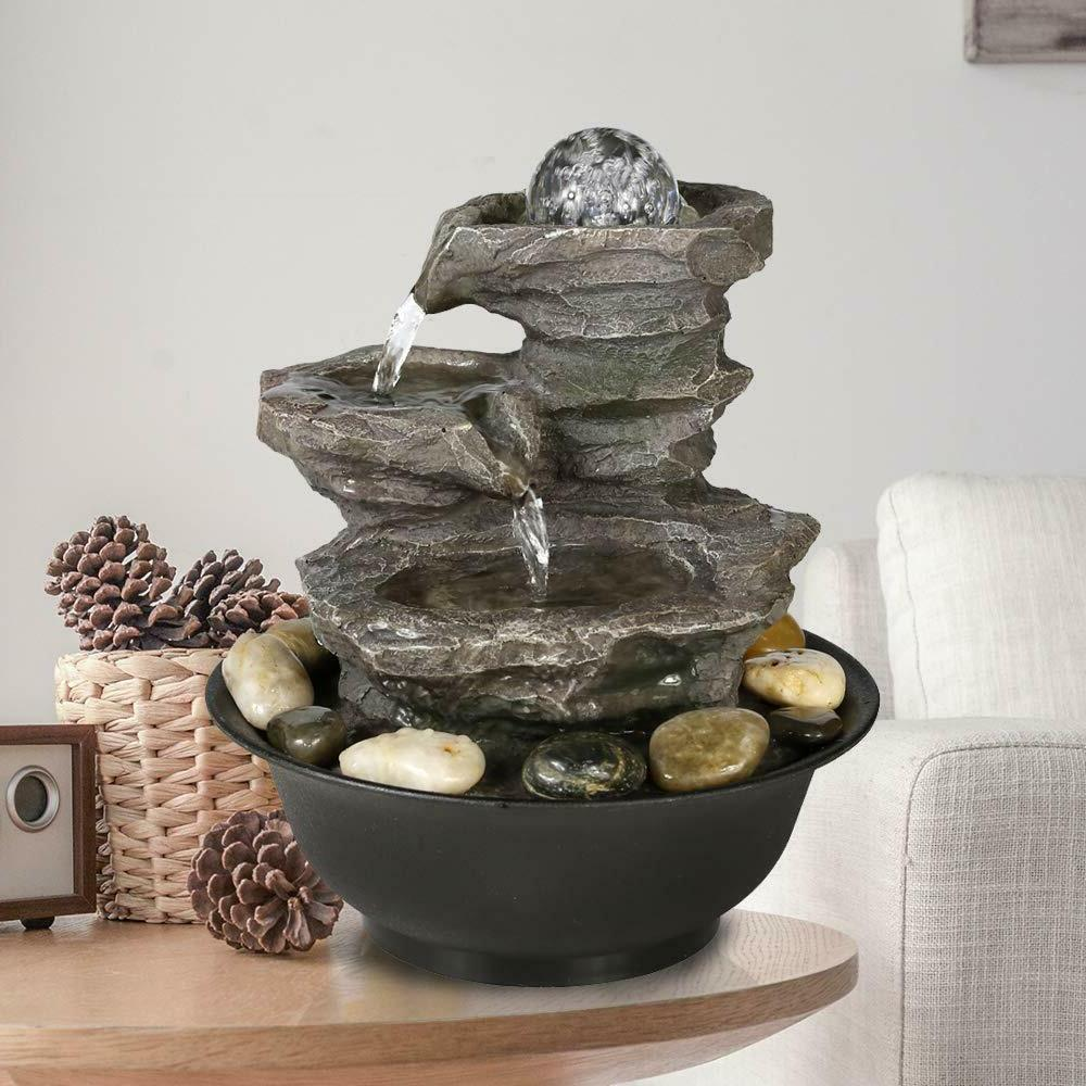 11 4 relaxation waterfall feature with led