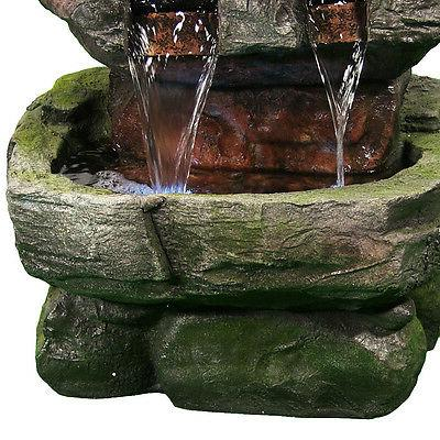 Sunnydaze Tiered Fountain with LED