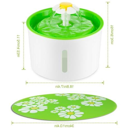US Automatic Dog Water Fountain Pet Dish Filter