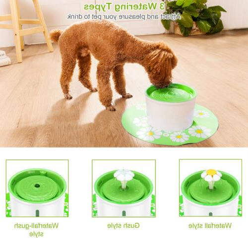 US Automatic Cat Water Flower Filter