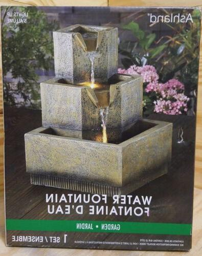 Ashland Fountain Summer LED Textured Outdoor Tranquil New