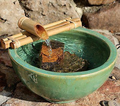 Bamboo Accents Zen Garden Water Fountain Spout, Complete Kit