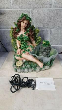 Lady Women Nude Covered In Ivy w/Turtle & FrogTabletop Water