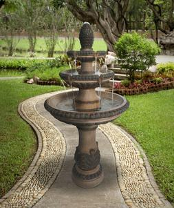 Outdoor Tiered Fountain Large Waterfall Cascade Stone Water