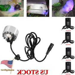 LED Mist Maker Fogger Air Humidifier Water Fountain Pond Aqu