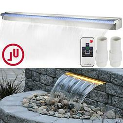 """VEVOR Pool Fountain 47.2"""" Waterfall Spillway Remote Control"""