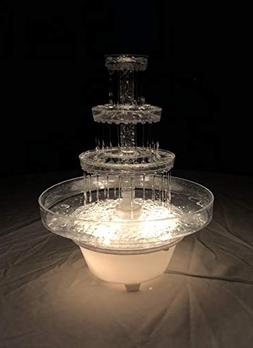 Lighted Plastic Water Fountain for Weddings, Garden, Home, O