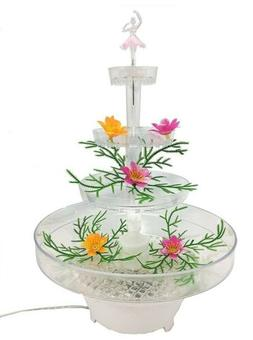 "Lighted Plastic Water Fountain For Weddings 13"" Clear Acryli"