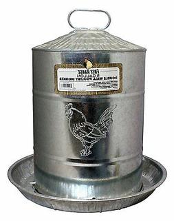 Harris Farms LLC Pet Double Metal Wall Chicken Water Fountai