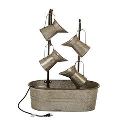 Glitzhome Metal Tiered Water Fountain with Decorative Faucet