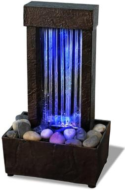 mirrored waterfall light show led fountain relaxing