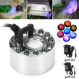 Mist Maker With 12 LED Light Fog Machine Fountain Water Tank